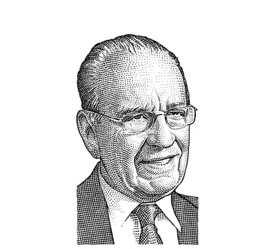 Hedcut illustration by visual artist Noli Novak for Wall Street Journal.